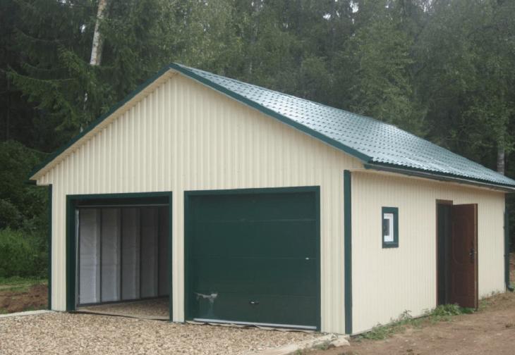 Проект гаража для грузовых машин