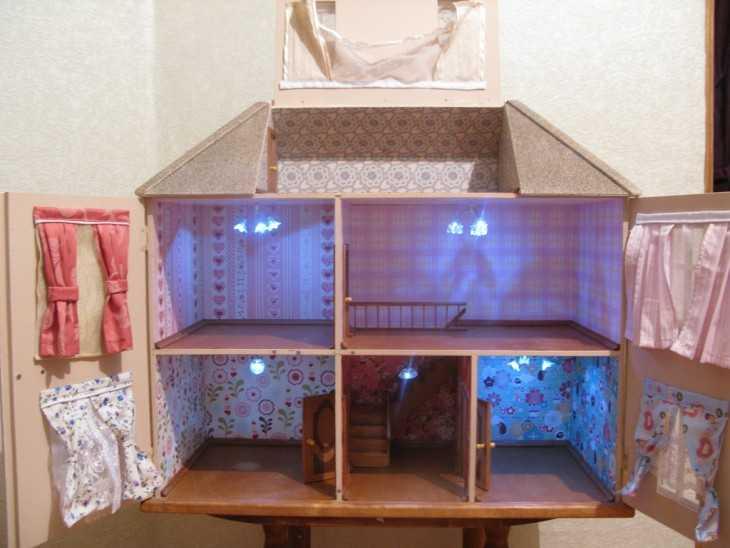 Как сделать кукольный домик своими руками в домашних 105