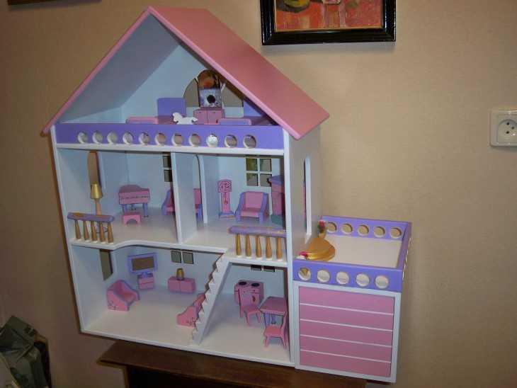 Кукольные домик своими руками для барби 290