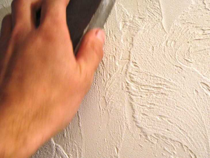 Декоративная штукатурка стен шпаклевкой своими руками 781