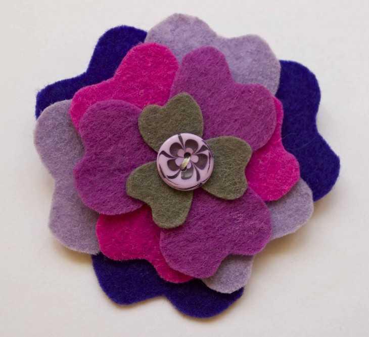 Цветки из фетра своими руками 94