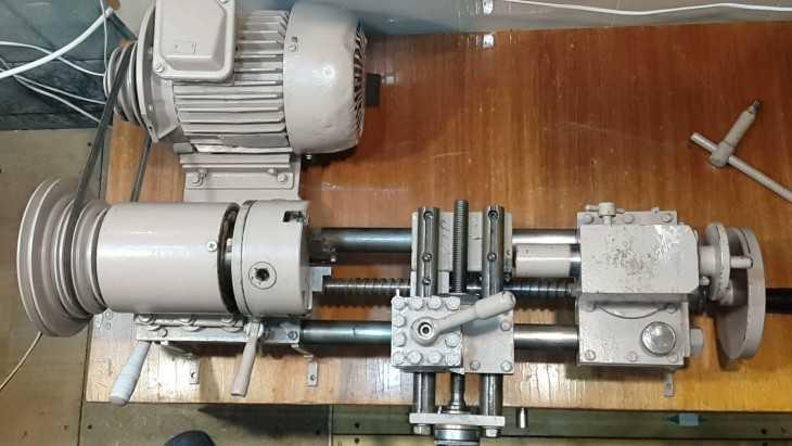 как сделать токарный станок из электродвигателя