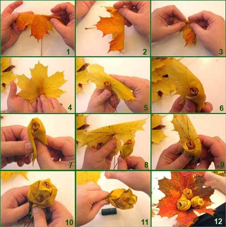 Композиции из листьев своими руками 84