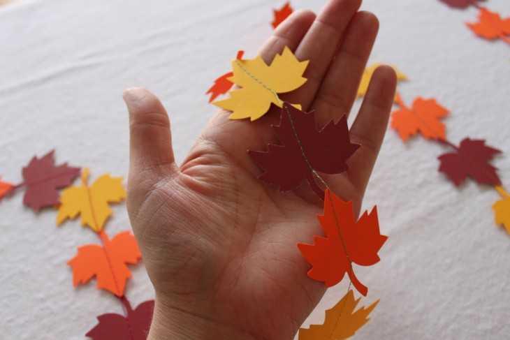 Гирлянды из листьев как сделать 454