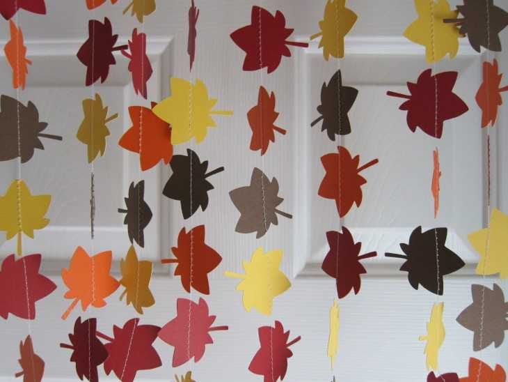 Гирлянды из листьев как сделать 364