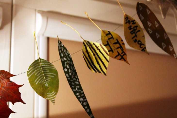Как засушить листья для поделки