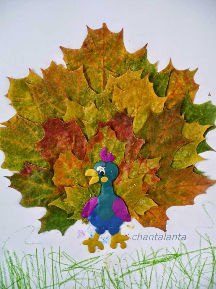 Простые поделки из кленовых листьев 16