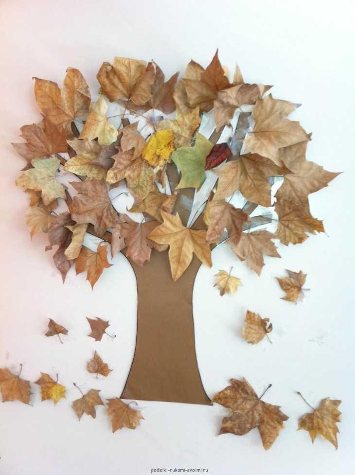 Поделки своими руками из сухих листьев фото